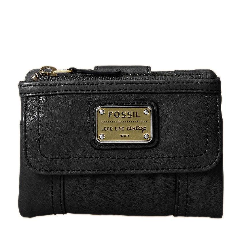 Fossil Women's 'Emory' Black Leather Bi-Fold Wallet