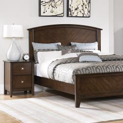 Nurmes Warm Cherry Queen-size Transitional 5-piece Bedroom Set - Thumbnail 1