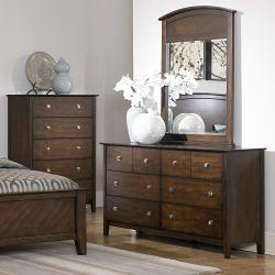 Nurmes Warm Cherry Queen-size Transitional 5-piece Bedroom Set - Thumbnail 2
