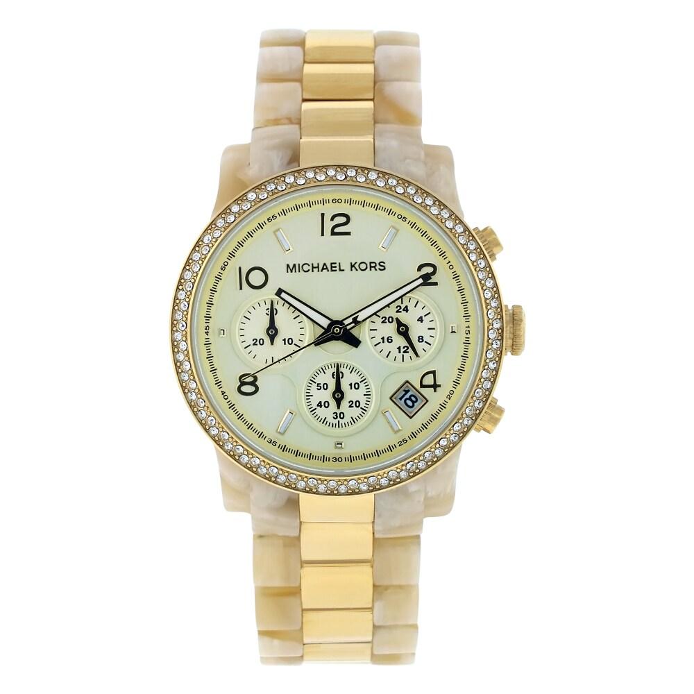 Michael Kors Women's White/ Gold Classic Watch