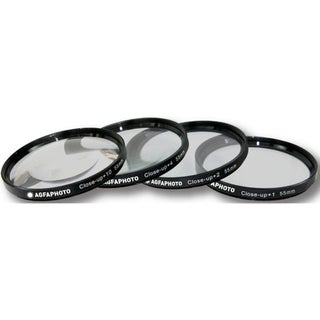 AGFA 4-Piece Close-Up Macro Multi Coated Filter Kit 55mm