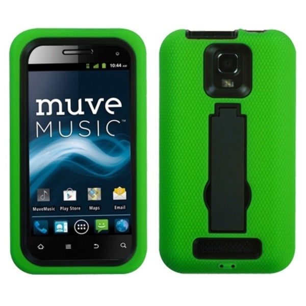 ASMYNA Black/ Green Case for ZTE V8000 Engage