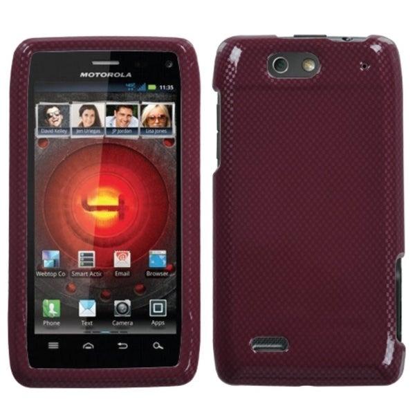MYBAT Carbon Fiber/ Red Case for Motorola Droid 4 XT894