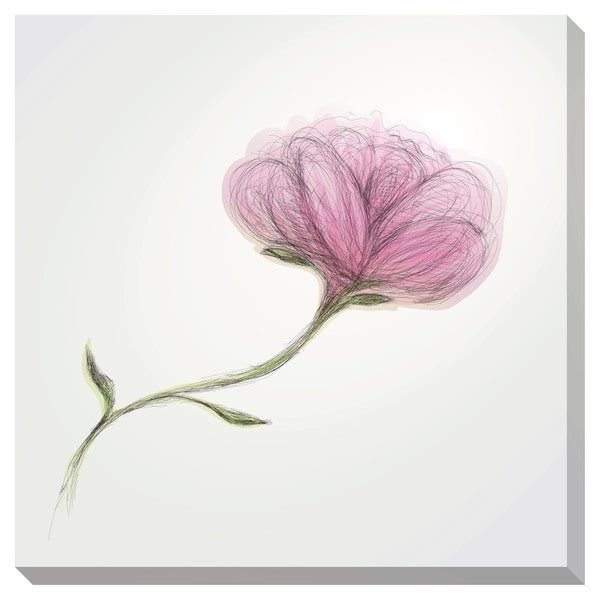 Gallery Direct Rose Sketch Oversized Gallery Wrapped Canvas