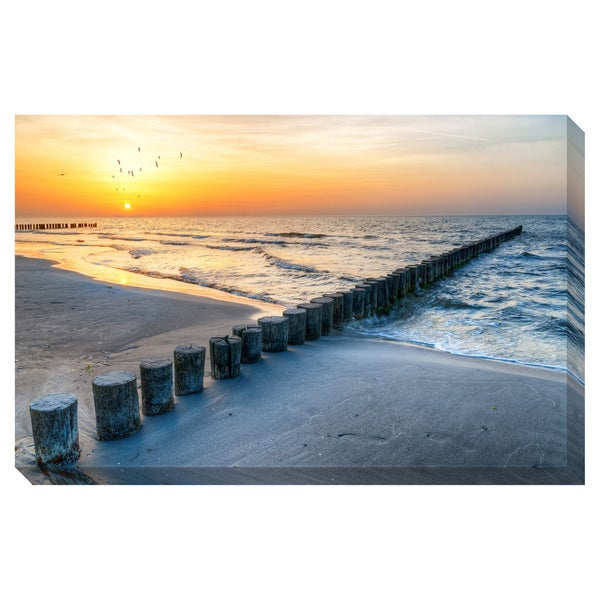 Gallery Direct On the Beach Oversized Gallery Wrapped Canvas