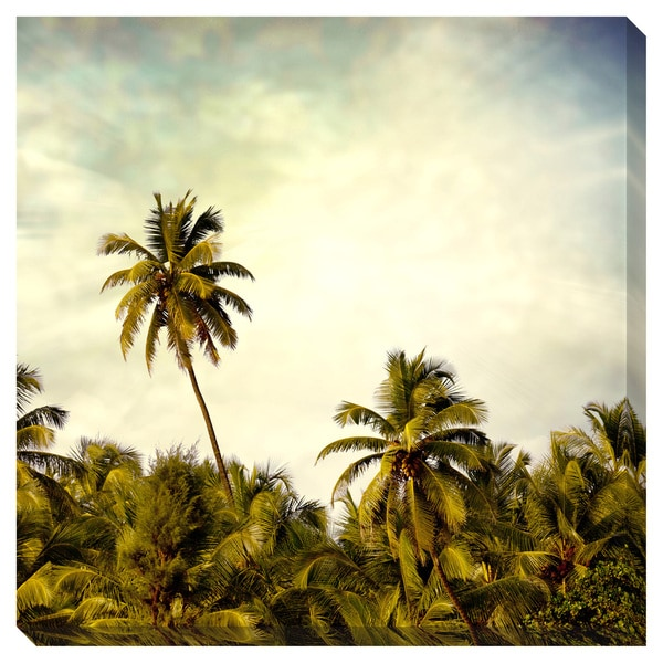 Gallery Direct Vintage Palm Trees Oversized Gallery Wrapped Canvas