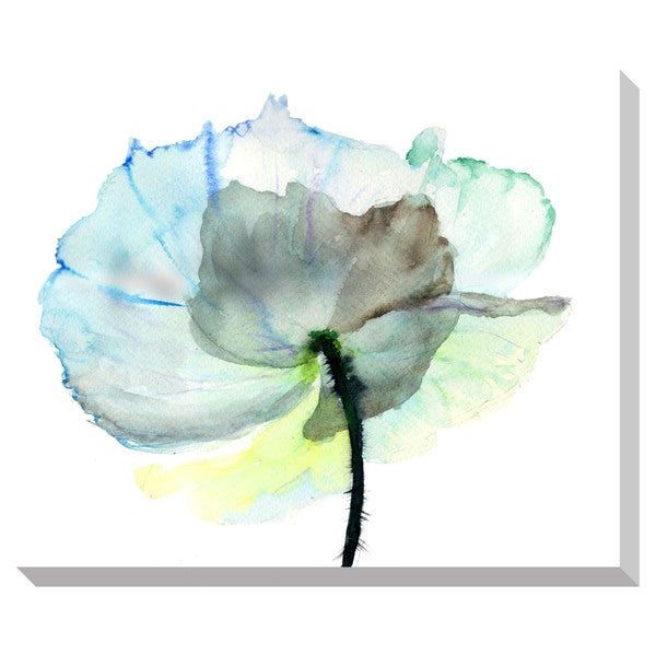 Gallery Direct Abstract Watercolor Flower Oversized Wrapped Canvas