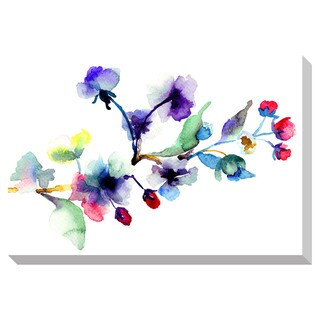 Gallery Direct Blossoms Watercolor Oversized Gallery Wrapped Canvas