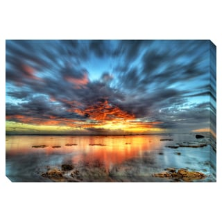 Gallery Direct Sunset over the Lagoon Oversized Gallery Wrapped Canvas
