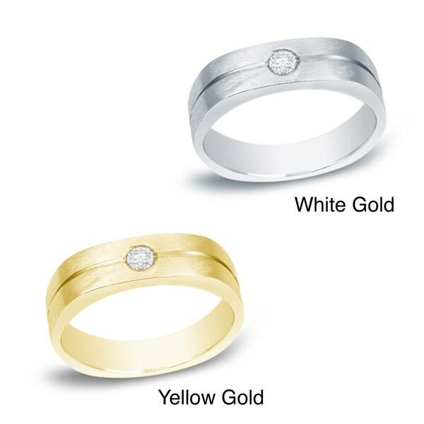 Auriya 14k Gold Men's 1/6ct TDW Round Diamond Ring