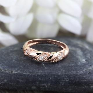 Auriya 14k Gold 1/5ct TDW Stackable Diamond Anniversary Wedding Band Ring