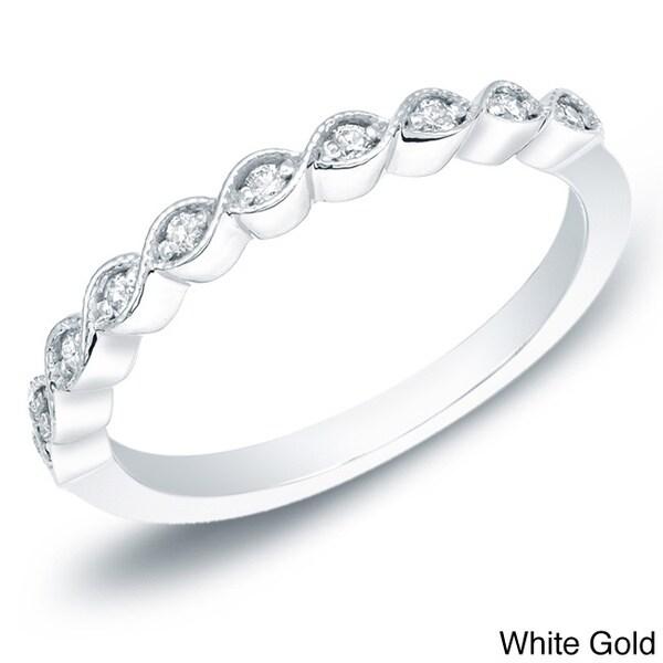Auriya 14k Gold 1/6ct TDW Diamond Vintage Style Anniversary Ring