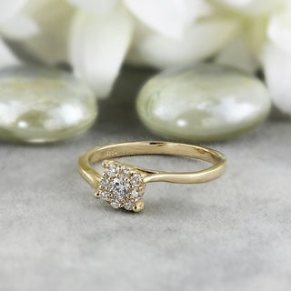 Auriya 14k White or Yellow Gold 1/4ct TDW Diamond Ring