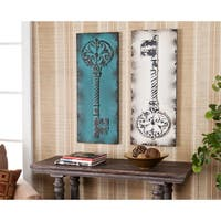 Gracewood Hollow Isaac Vintage Key Decorative Wall Panel 2-piece Set