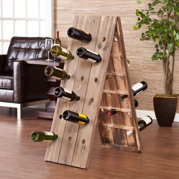 Upton Home Bustillo 36-Bottle Riddling Wine Rack Display