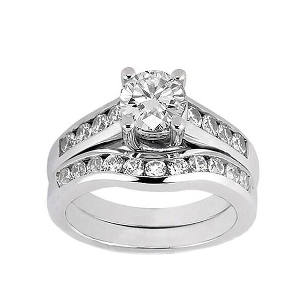 14k White Gold 1 2/5ct TDW Diamond Bridal Ring Set (F-G, SI1-SI2)