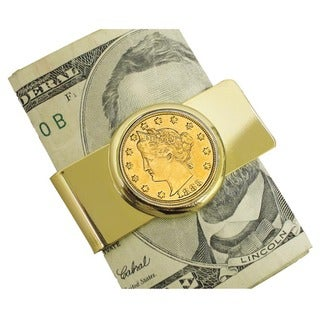 American Coin Treasures Goldtone 1883 First Year of Issue Racketeer Nickel Money Clip