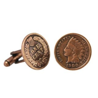 American Coin Treasures Copper Indian Head Cent Cuff Links