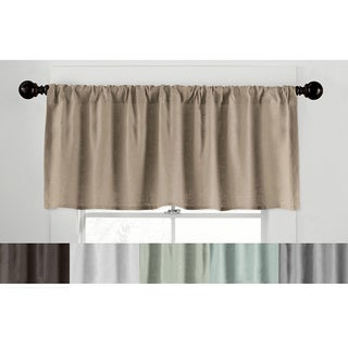 Grand Luxe Gotham Linen Tailored Valance