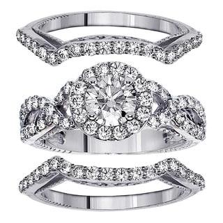 14k White Gold 2 7\/8ct TDW Clarity Enhanced Diamond 3 ...