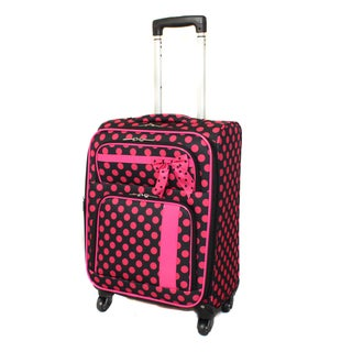 Polka Dot Delight 19-Inch Expandable Lightweight Spinner Upright Carry-On