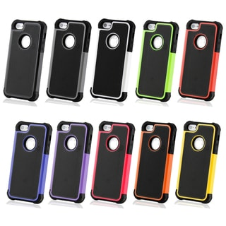Gearonic 2-piece Hybrid Rugged Hard PC Soft Silicone Back Case Cover for iPhone 5