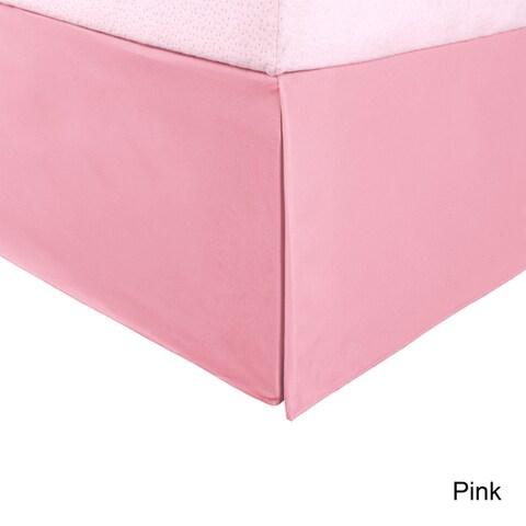 Superior Solid Microfiber Wrinkle-Resistant 15-inch Drop Bedskirt