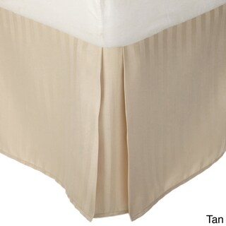 Superior Wrinkle Resistant Brushed Microfiber Stripe 15-inch Drop Bedskirt