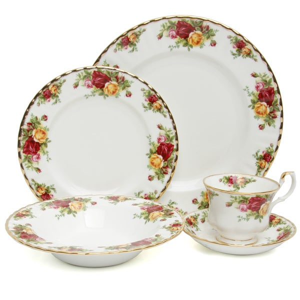 Old Country Roses 20-Piece Dinnerware Set