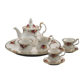 Royal Doulton Old Country Roses Le Petite 9-Piece Tea Set