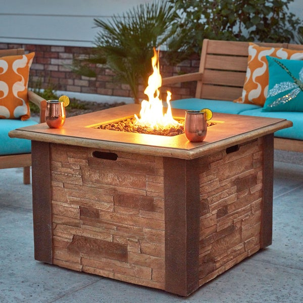 Superieur UF Stacked Stone LP Gas Fire Pit