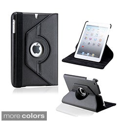 Gearonic 360-degree Rotating PU Leather Case Smart Cover Swivel Stand for iPad Mini/ Mini Retina/ Mini 3 Case