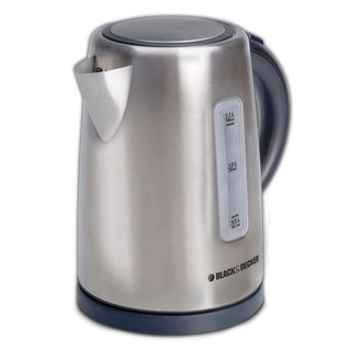 Black and Decker 1.7-liter Cordless Stainless Steel Kettle