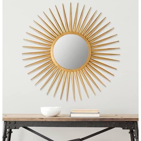 "Safavieh Radiant Flair Gold Sunburst 36-inch Decorative Mirror - 36"" x 36"" x 1"""