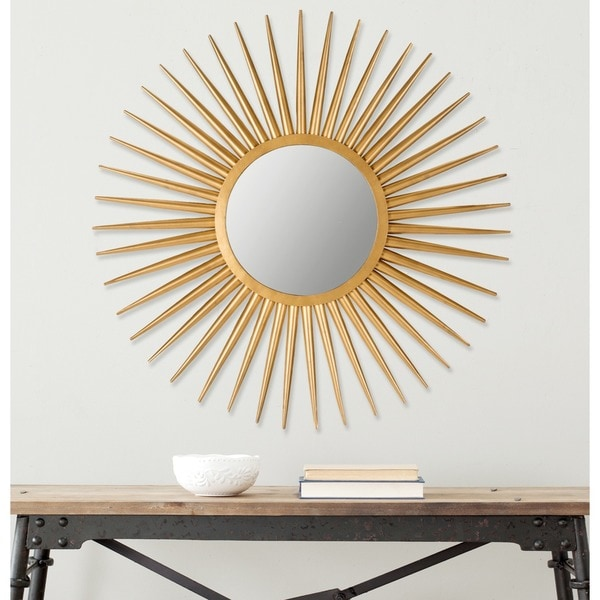 Shop Safavieh Radiant Flair Gold 36-inch Sunburst Mirror