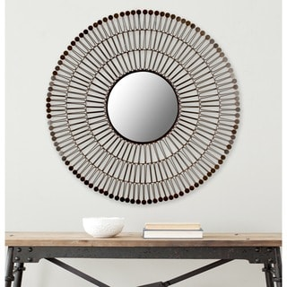 Safavieh New Victoria Coffee Bronze 31-inch Round Mirror