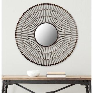 "Link to Safavieh Victoria Coffee Bronze 31-inch Round Decorative Mirror - 31"" x 31"" x 1.5"" Similar Items in Mirrors"