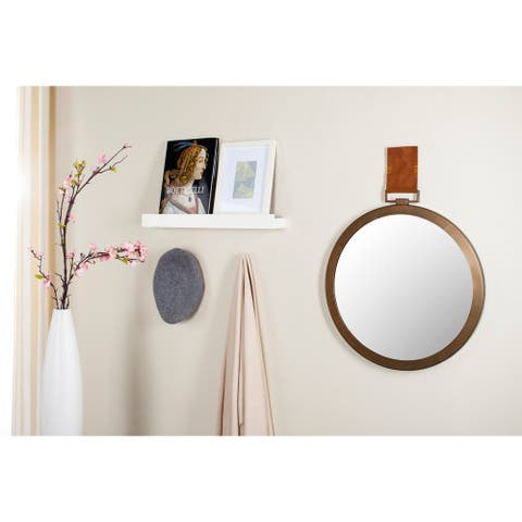 "Safavieh Time Out Warm Amber 21-inch Round Decorative Mirror - 21"" x 1.5"" x 21"""