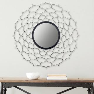 Safavieh Curves Ahead Geometric Black 36-inch Mirror
