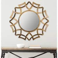 Safavieh Inca Antique Gold 35-inch Sunburst Mirror