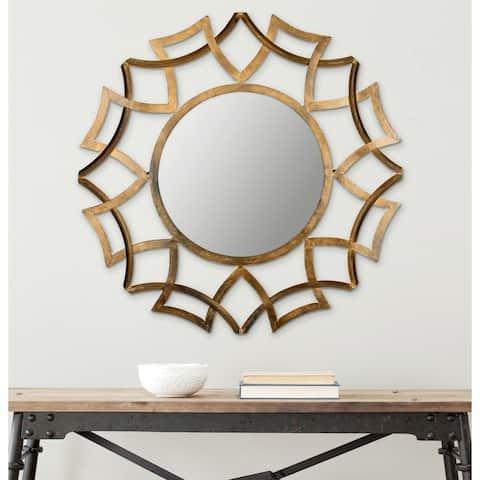 """Safavieh Inca Antique Gold Sunburst 35-inch Decorative Mirror - 35"""" x 1"""" x 35"""""""
