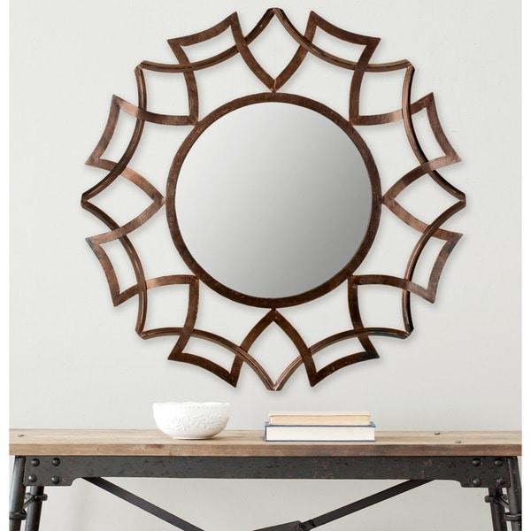 Safavieh Inca Copper Bronze 35-inch Sunburst Mirror