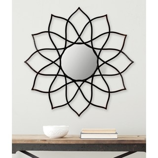 Safavieh Flower Power Coffee Bronze 36-inch Mirror
