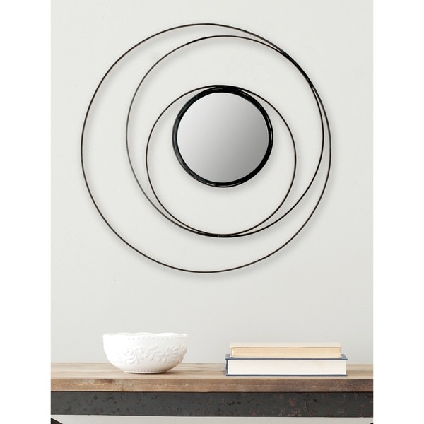 Safavieh Inner Circle Black 20-inch Mirror