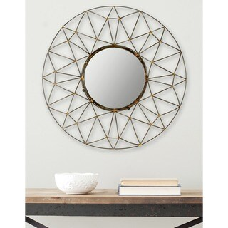 Safavieh Gossamer Geometric Natural 32-inch Mirror