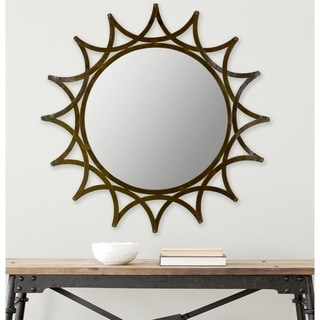 Safavieh New Mayan Star Warm Amber Urban 36-inch Mirror