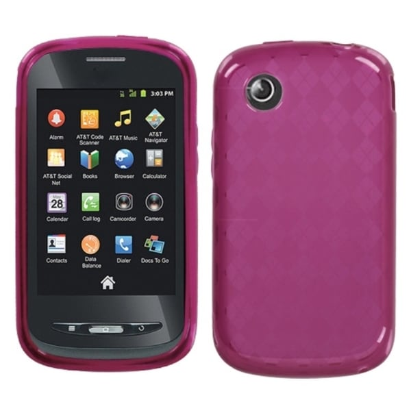 INSTEN Hot Pink Argyle Phone Case Cover for ZTE Z990 Avail