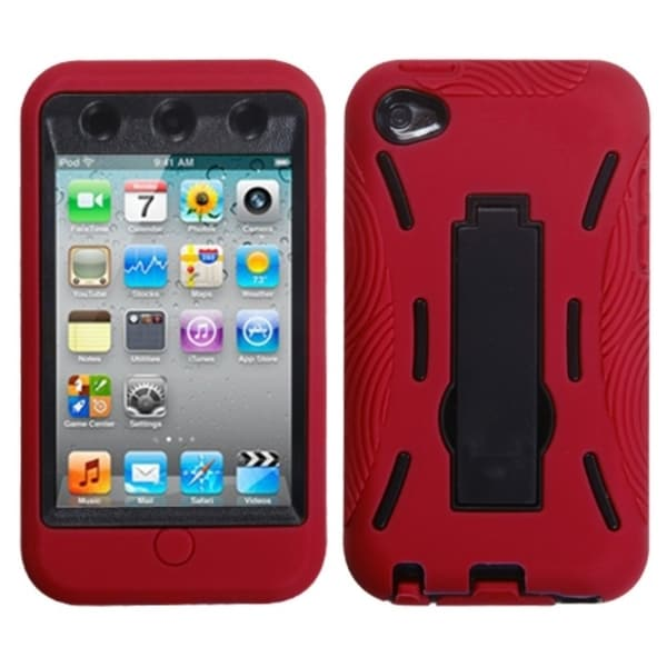 Insten Black/ Red Case Cover for Apple iPod Touch 4th Generation