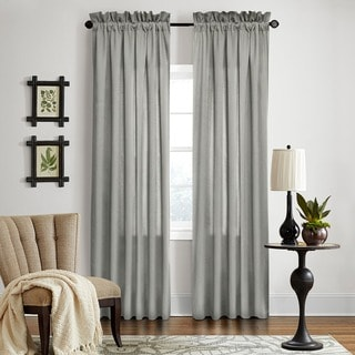 Grand Luxe Grey All Linen Gotham Rod Pocket Window Panel