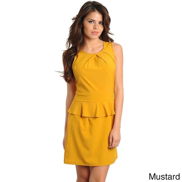 Stanzino Women's Sleeveless Peplum Dress